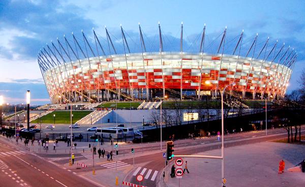Stadion Narodowy w Warszawie jest głównym i największym stadionem EURO 2012 w Polsce Fot. archiwum