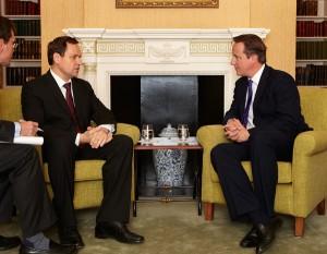 Spotkanie europosła Waldemara Tomaszewskiego z premierem Wielkiej Brytanii Davidem Cameronem Fot. archiwum