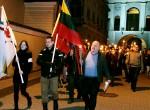 Co roku obchody odzyskania Wilna z rąk Stalina litewscy narodowcy świętują marszem z pochodniami — wizytówką propagandy europejskich nazistów, której pomysłodawcą był Joseph Goebbels    Fot. Marian Paluszkiewicz