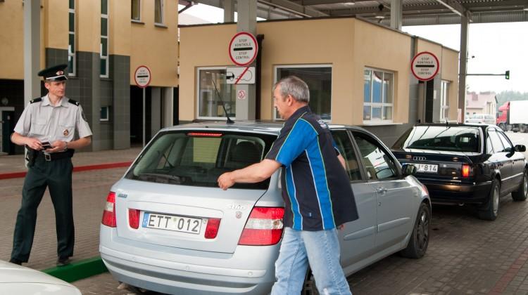 Granica Litwa — Białoruś zamknięta dla pieszych Fot. Marian Paluszkiewicz