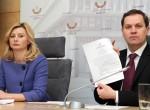 Rita Tamašunienė i Waldemar Tomaszewski krytykowali brak inicjatywy ze strony GKW      Fot. Marian Paluszkiewicz