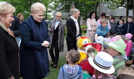 Prezydent Dalia Grybauskaitė wydaje się wreszcie zrozumiała, że problemy litewskich Polaków są problemami Litwy a nie Polski    Fot. Marian Paluszkiewicz