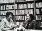 Janina Gieczewska i Bronisława Kozłowska przed uroczystym otwarciem biblioteki Fot. Walery Charin