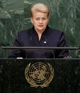 Zdaniem Dali Grybauskaitė, wydarzenia na Ukrainie nie pozwalają bezkrytycznie wierzyć w pokojowe inicjatywy Moskwy w Syrii Fot. EPA/ELTA
