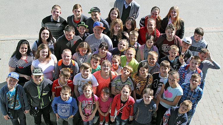43-osobowa grupa przybyła pod opieką swych wychowawców Fot. Marian Paluszkiewicz