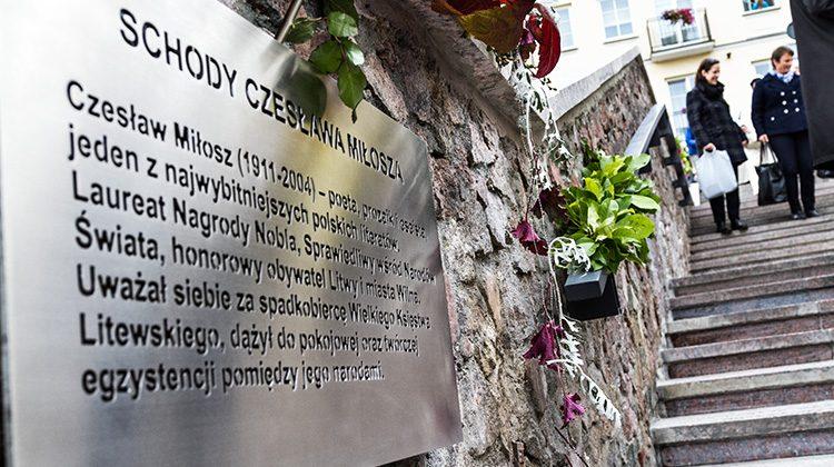 Imię Czesława Miłosza nadał schodom samorząd Wilna w 2011 roku w ramach obchodów 100. rocznicy urodzin noblisty                         Fot. M. P.