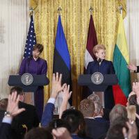 Prezydent USA Donald Trump spotkał się z przywódcami państw bałtyckich