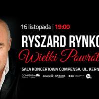 Ryszard Rynkowski wraca do Wilna – koncert roku już w listopadzie!