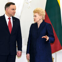 Wizyta Grybauskaitė w Polsce: przewidziane powołanie rady ministrów obrony Polski i Litwy